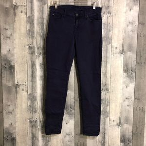 7 for all mankind gwenevere 30 color skinny jeans